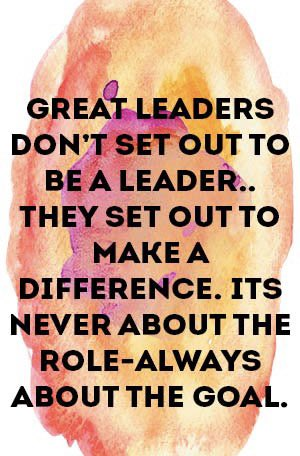Leadership isn't a hierarchy, nor a role. It's about the goal. #makeadifference https://t.co/prZDidr2NU