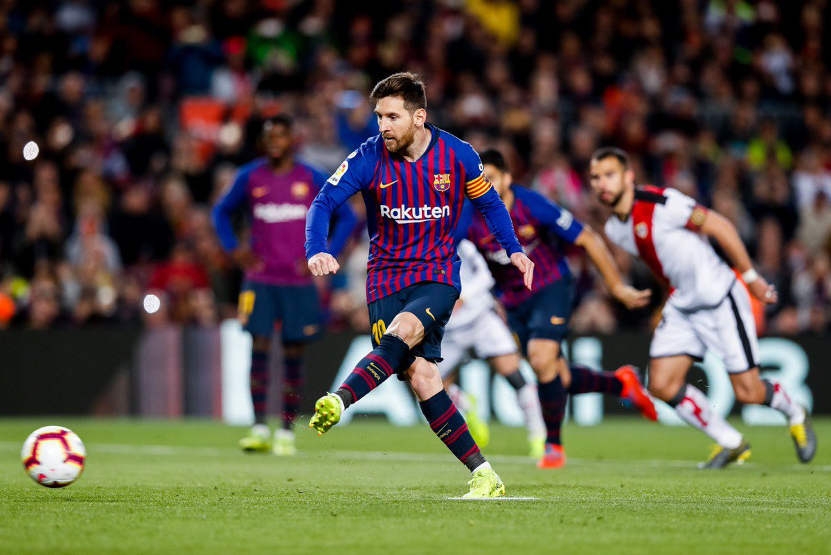 Messi volvió a marcar ante el Rayo (Foto: FCB).