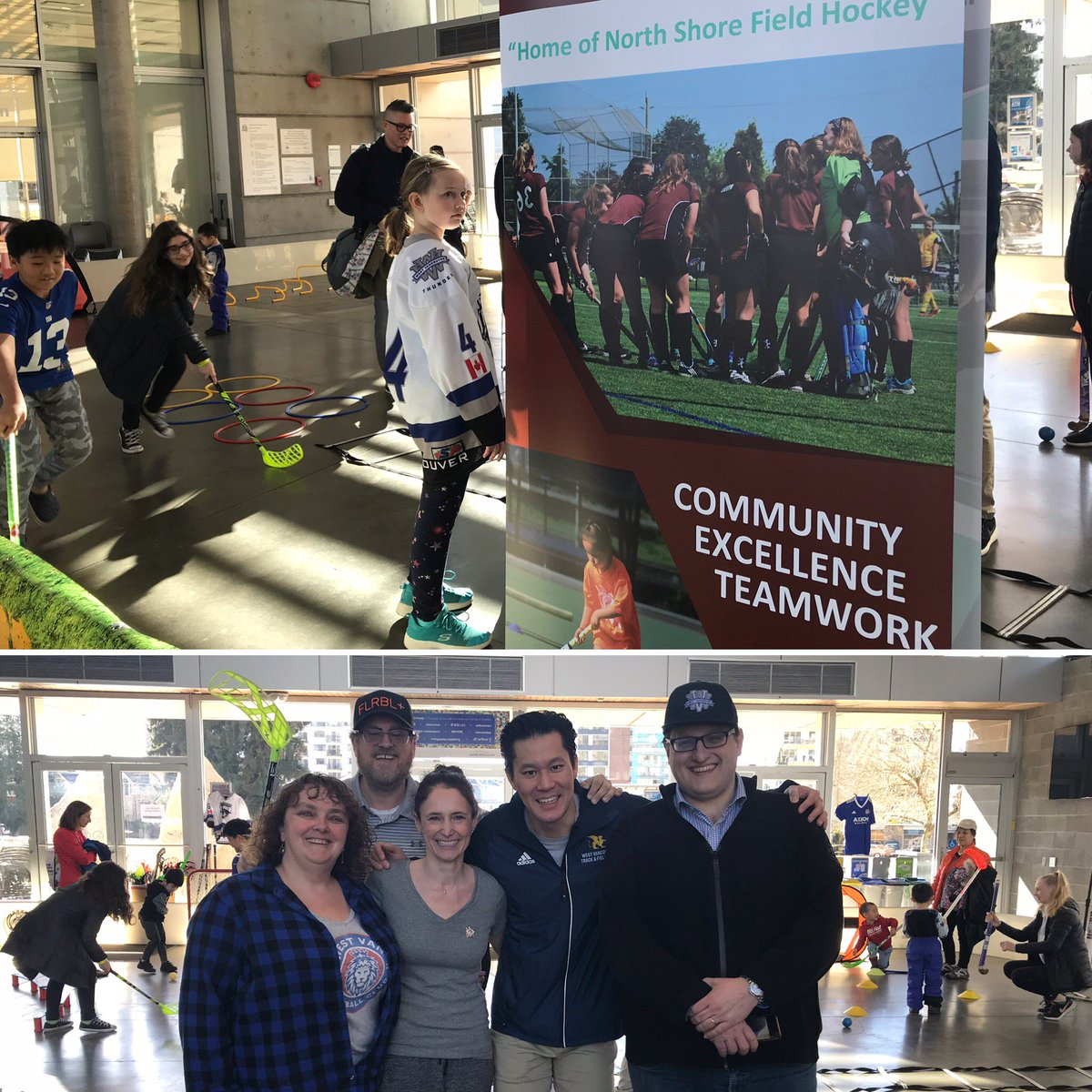 Today we're at the @WestVanRec Community Centre with lots of sports to try! Proud to be out here promoting physical activity with our fellow sport organisations - come down & visit us! -  @WVSC1 @WVMHA @MarcusCSWong @FloorballPlus #westvancouver @S4L_SPV