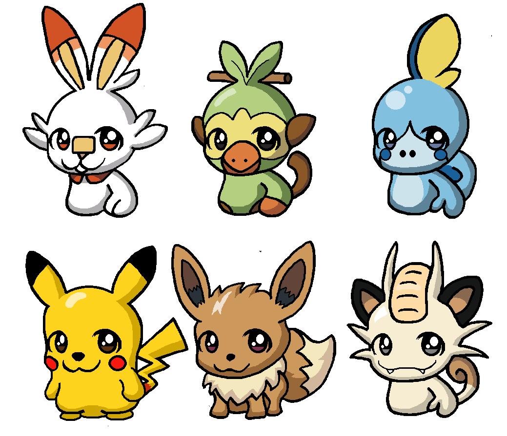Pokemon Epee Evolution Des Starters Les Trois Premiers Pokemon