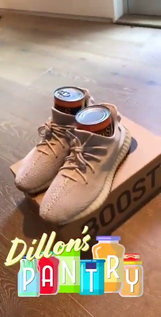 What's better than a pair of my yeezys? My yeezys with 2 soup cans in it I guess. Giving these away for #DillonsPantry bc I have way too many pairs of shoes. RT to win (must be following)