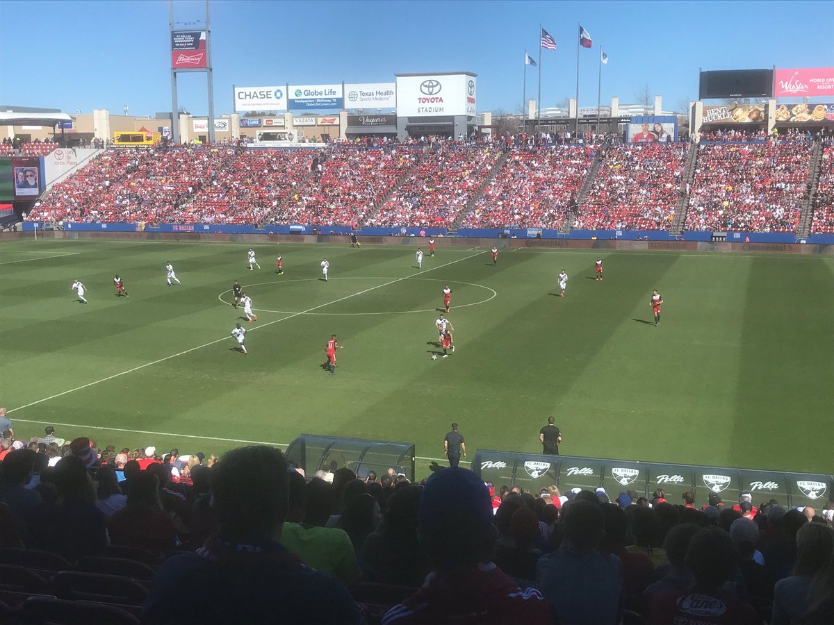 Beautiful day at Toyota Stadium for some ⁦@MLS⁩ action between ⁦@FCDallas⁩ and the Galaxy.