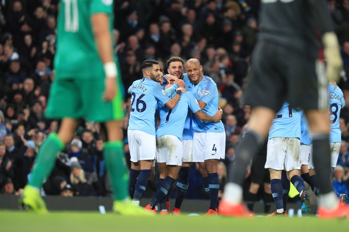 Awesome win and overall performance. Well done to the big man @sterling7, nice hat-trick. More to come, keep it going. #mancity