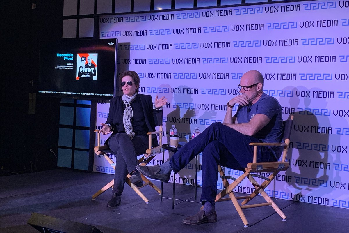 Happening now: Pivot live taping with @karaswisher and @profgalloway at VoxMediaDeepEnd: