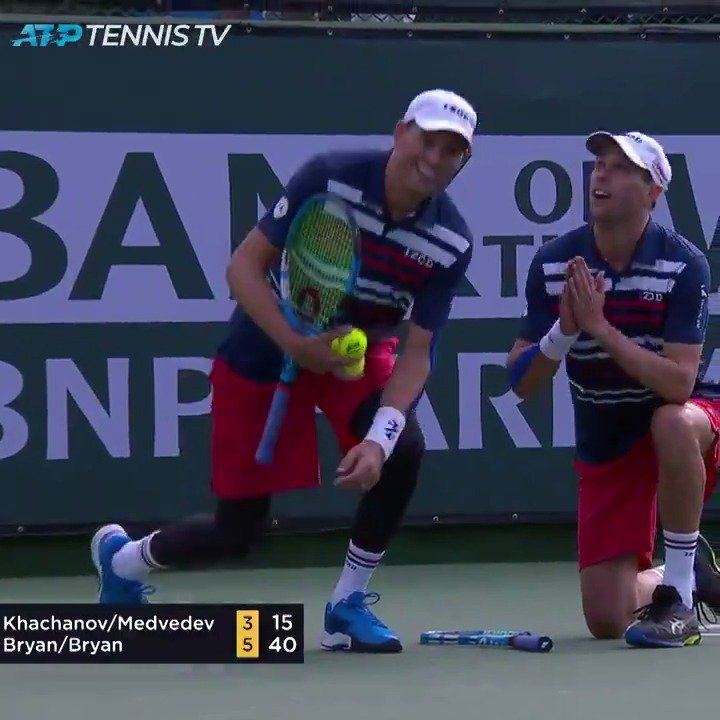 DOUBLES. #BNPPO19 @Bryanbros @Bryanbrothers