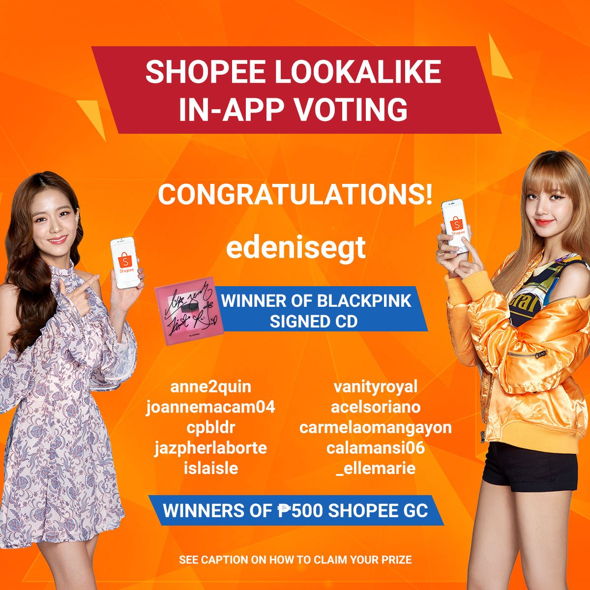 Congratulations to our lucky lookalike voters! 🙂 #ShopeeLookalikePH . . ***Please send us a message on or before April 10,2019 to claim your prize. Check the full info at https://facebook.com/ShopeePH/photos/a.1984176331887925/2069477556691135/ … #ShopeeGiveawayWinners #ShopeeApp #ShopeePH #ShopeePhilippines