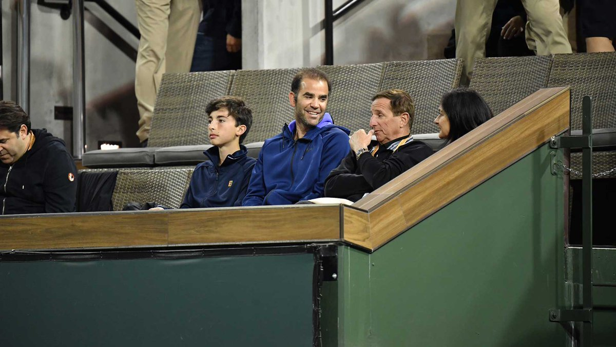 Atp Tour On Twitter Pete Sampras In The House Tonight Bnppo19
