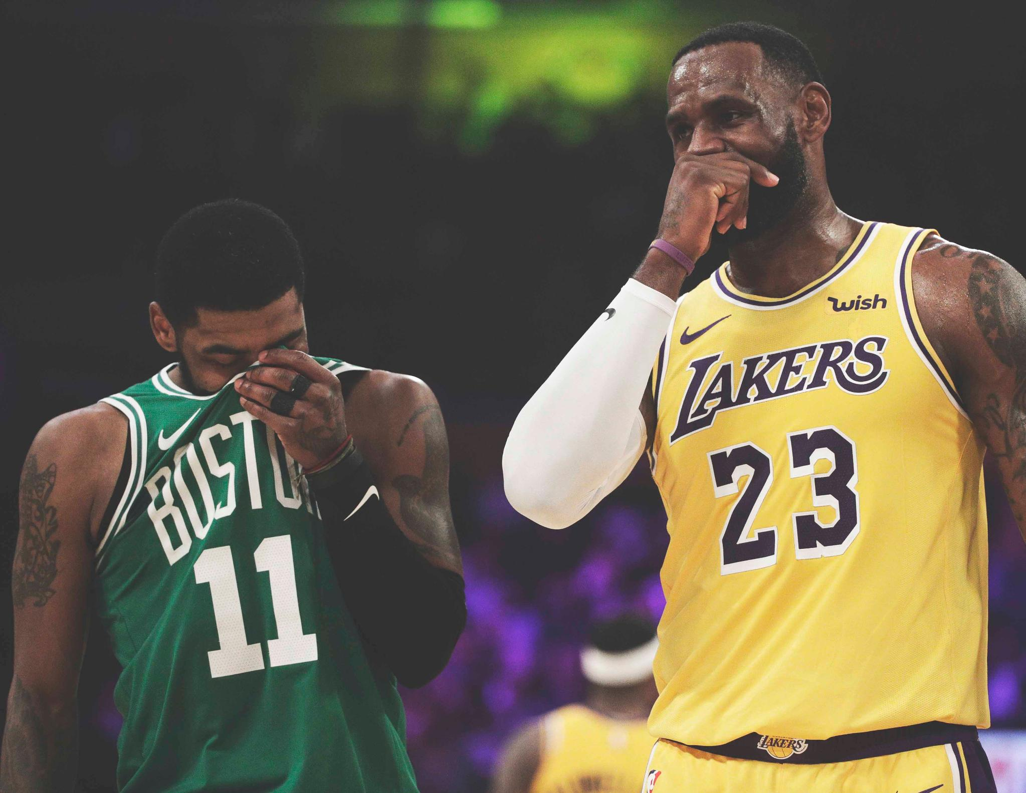 Kyrie and the Celtics hand LeBron and the Lakers their 5th straight loss. https://t.co/SWpe6DKwjY