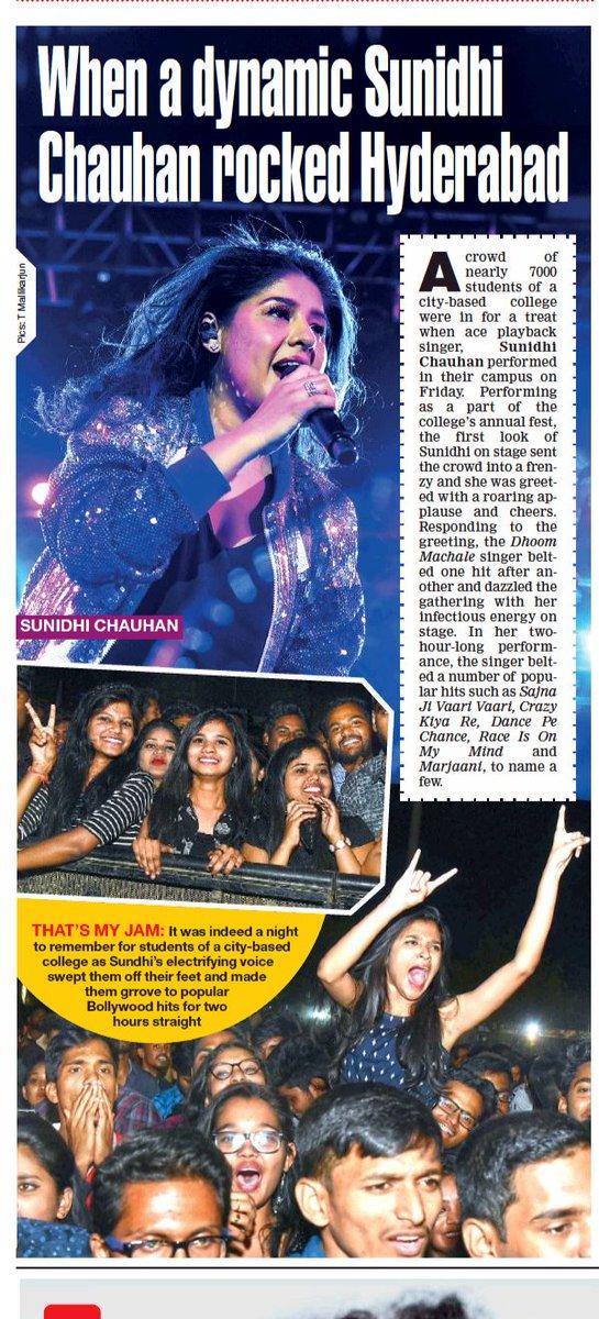 When a dynamic @SunidhiChauhan5 rocked Hyderabad