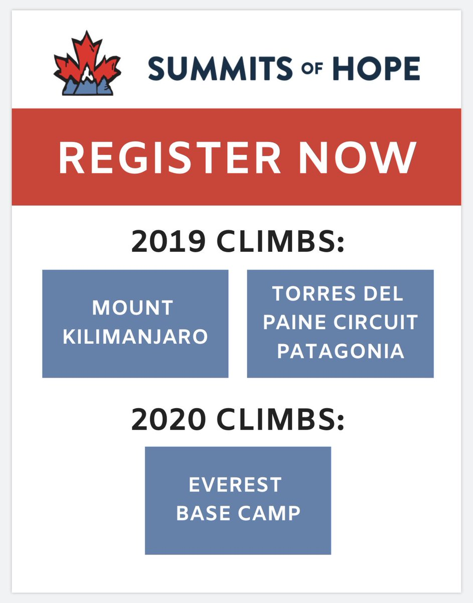 Wondering where we're heading next? Well wonder no more...and be sure to sign up on our website so we can send you all the details.🙌 https://summitsofhope.com/climbs  #summitsofhope #adventuretravel