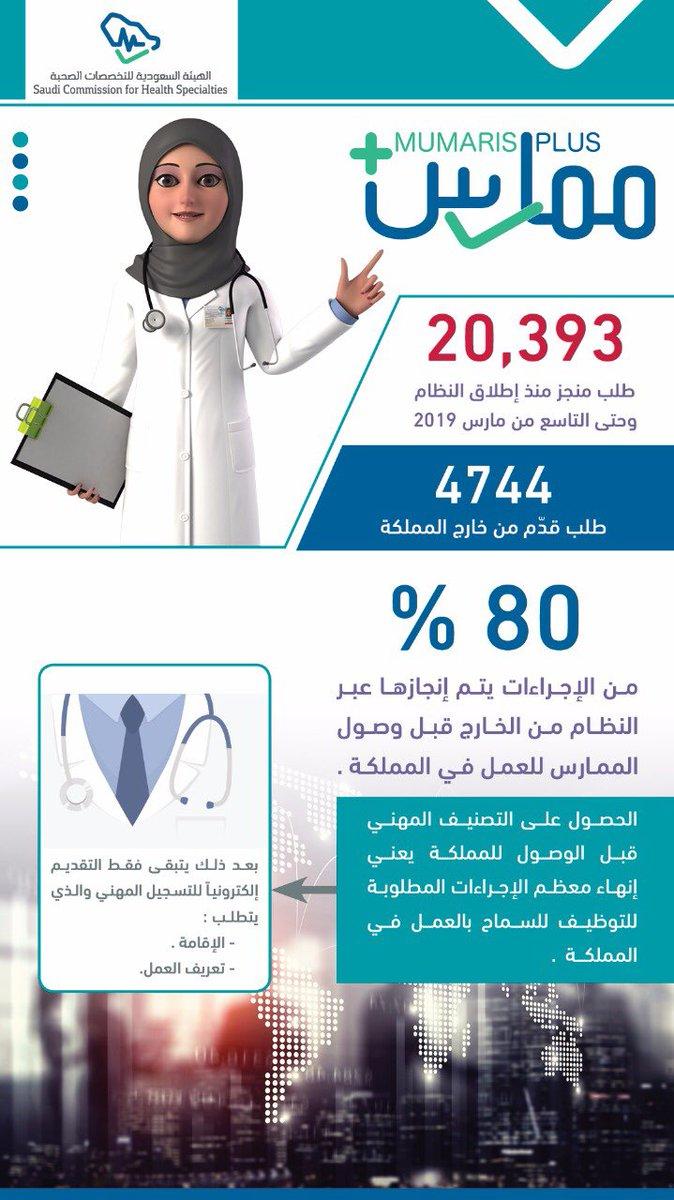 هيئة التخصصات الصحية A Twitter هيئة التخصصات الصحية ممارس بلس
