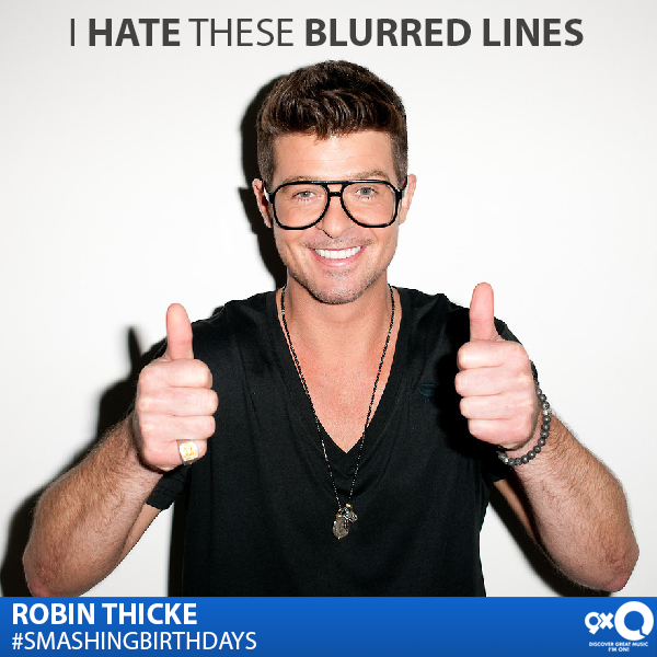 Blurred Lines Singer Robin Thicke celebrates his today! Happy Birthday Robin!