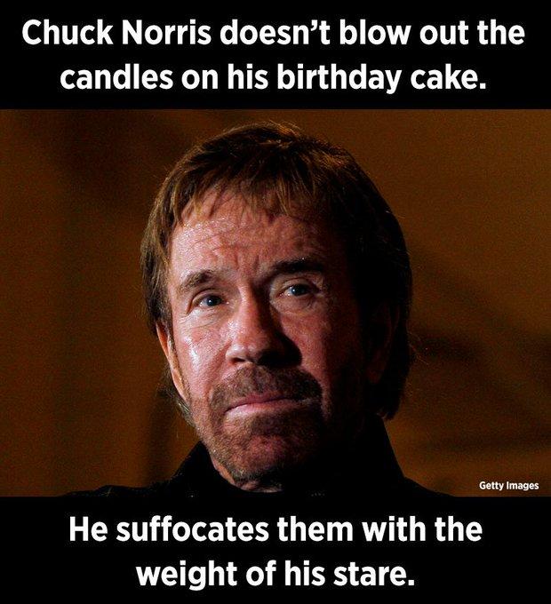 Happy 79th Birthday, Chuck Norris.