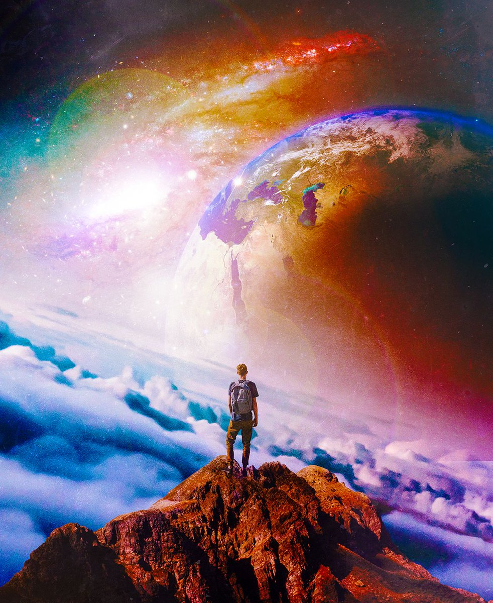 "Seamless on Twitter: ""Wanderer Of Cosmos #art #digitalart #design #illustration #surreal #scifi… """
