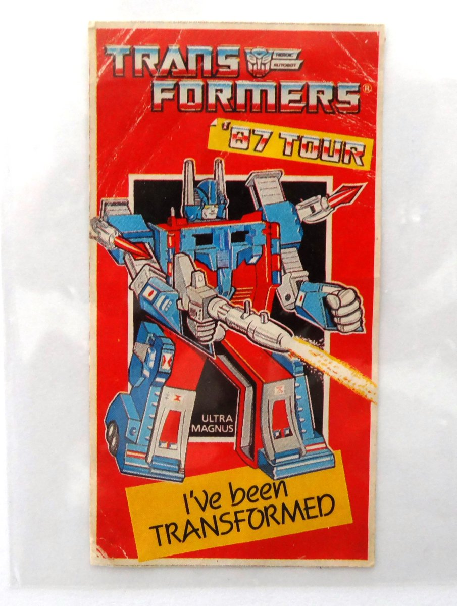Ultra Magnus and Galvatron Stickers from the '87 Tour. I've been TRANSFORMED. Purchased from the UK. No tour information available! Perhaps touring video stores promoting the TFTM VHS release? #g1transformers #galvatron #ultramagnus @tfwiki