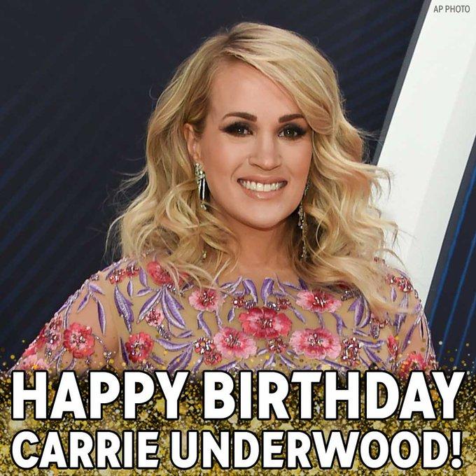 Happy Birthday to Grammy-winning singer Carrie Underwood!