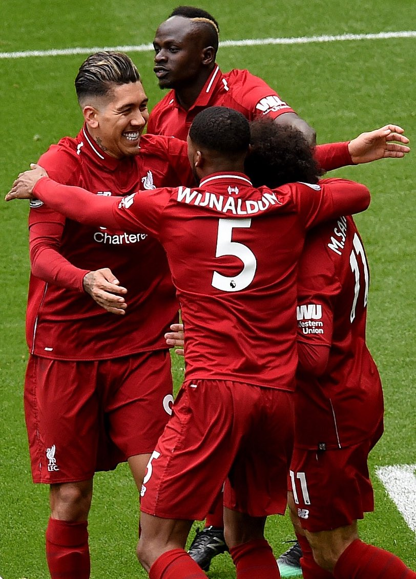 Solid 4-2 win at home with Roberto Firmino and Sadio Mané on 🔥🔥 with 2 goals.💪🏾 Let's keep this focus and flow! 🔴🔴🔴 #LIVBUR #LiverpoolFC #YNWA