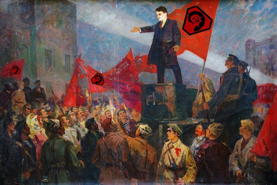 Картинки о революции, семь лет