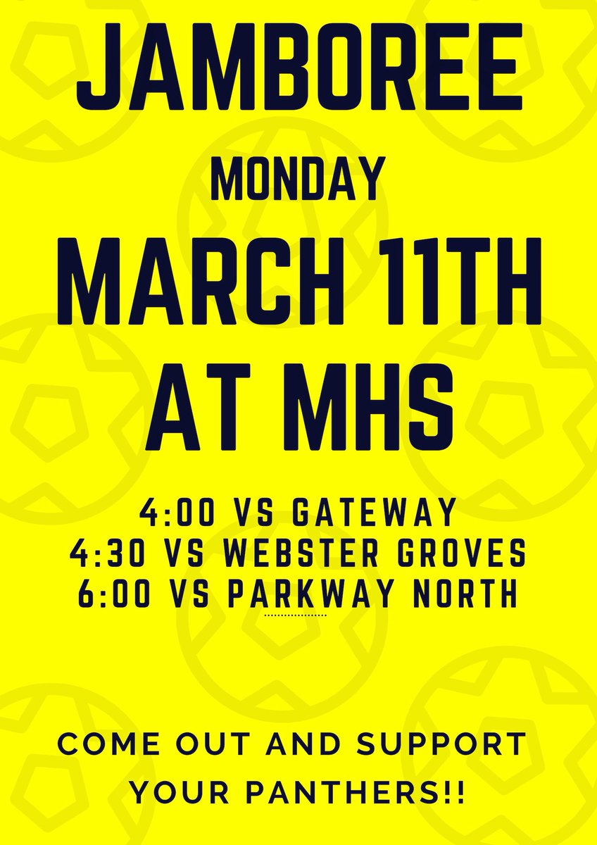 Come out and support your Panthers on Monday!! 💚🖤🐾 #jamboree #2019season #wearemehlville