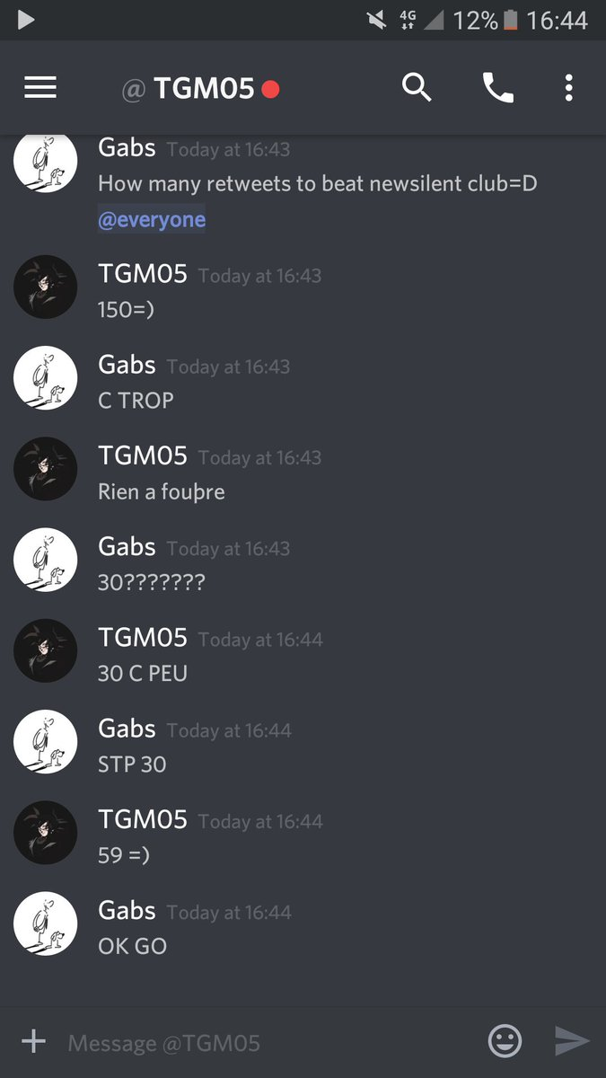59 rts for tgm to beat new silent club make him suffer 😊