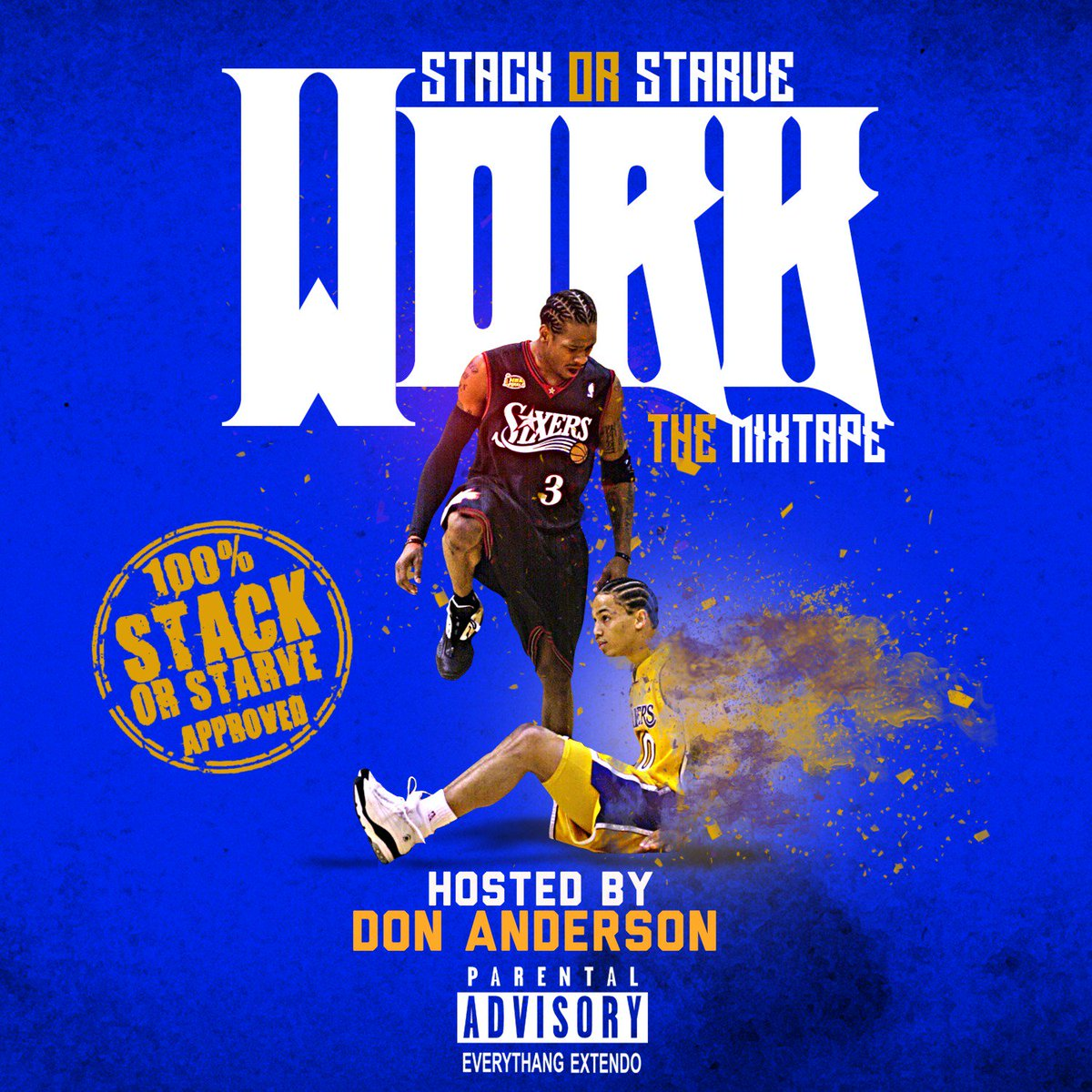 #NewMixtapeAlert #Work drops tomorrow at noon! Stay tuned don't miss this work this shyt epic! Hosted by @StackorStarvDJS @DaDonGED! Coming exclusively to @LiveMixtapes Dont miss this!!!!! #ThaReportDotCom #StackOrStarveApproved #EverythingzWorkin