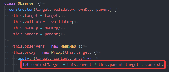 In my observer, I wanted to use a class where the proxy would have access to the observer itself when needed (like getting the parent & update its cache). Back to the good old way!