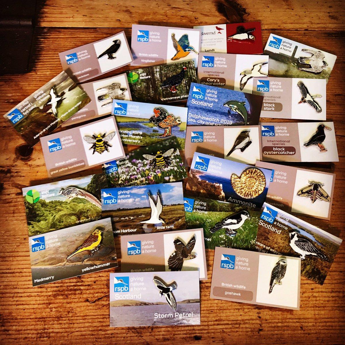 Wildlife pin badge pornography! 🍆🍒 #rspb #pinbadges #rspbpinbadge #rspbpins #sharehowyouwear