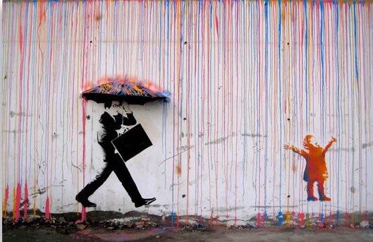 Cholerny Banksy.