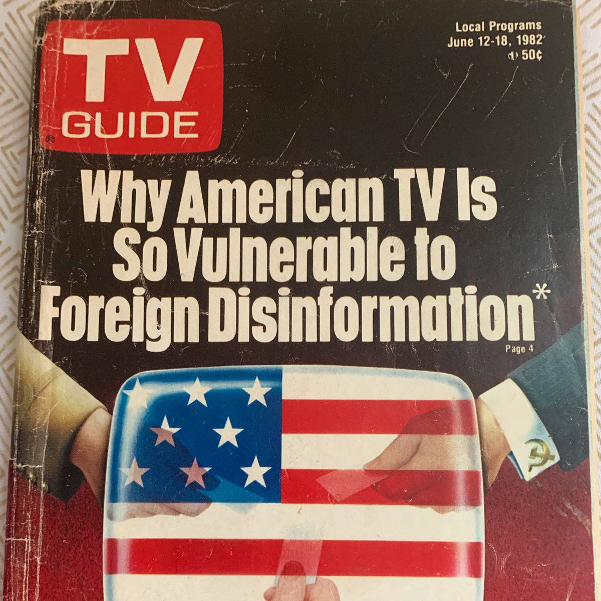 The June edition of TV Guide — from 1982. h/t @boblord