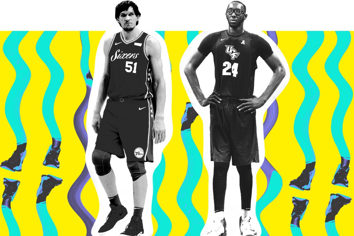 """Basically, I come from other planet. Like Superman, from Krypton.""  7'3"" Boban, 7'6"" Tacko Fall and 7'2"" Travon Pearson on the difficulties of being a giant in today's game—and everyday life http://bit.ly/2TEYZRL"
