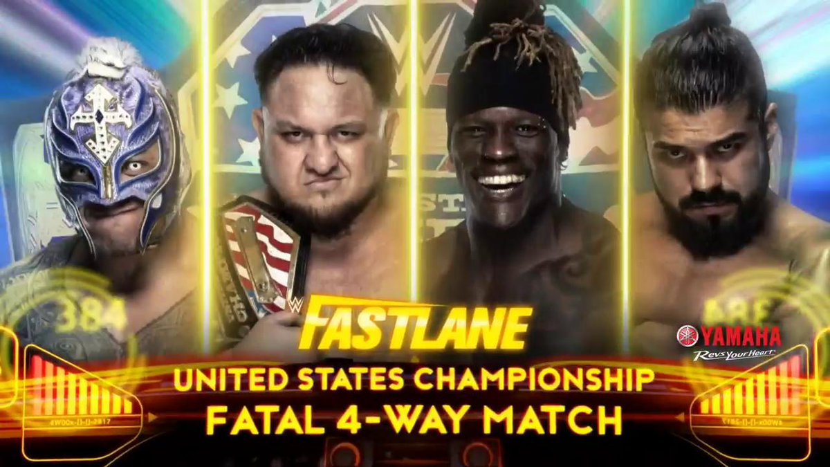 WWE US Title Fatal 4 Way Added To Tonight's Fastlane PPV