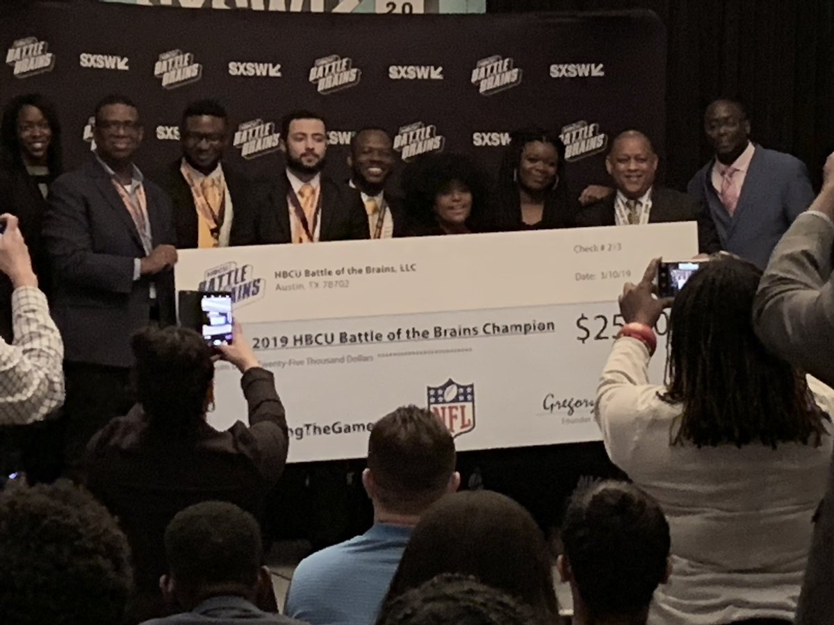 Congrats to @PVAMU on winning the #HBCUBOTBRAINS competition!