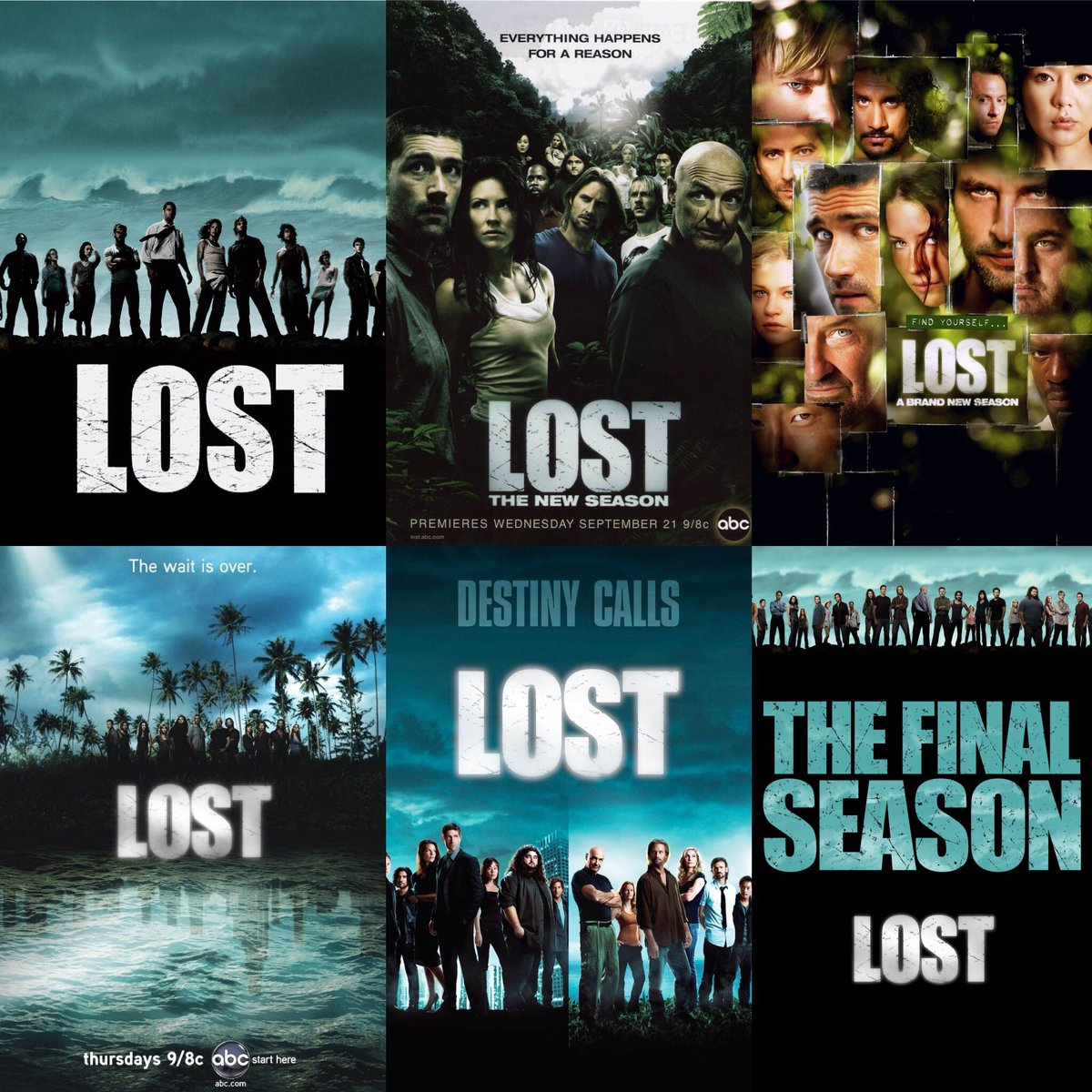 "LOST on Twitter: ""#LOST season's 1-6 posters. Which one is your ..."