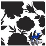 Image for the Tweet beginning: Blackground Floral Stencil