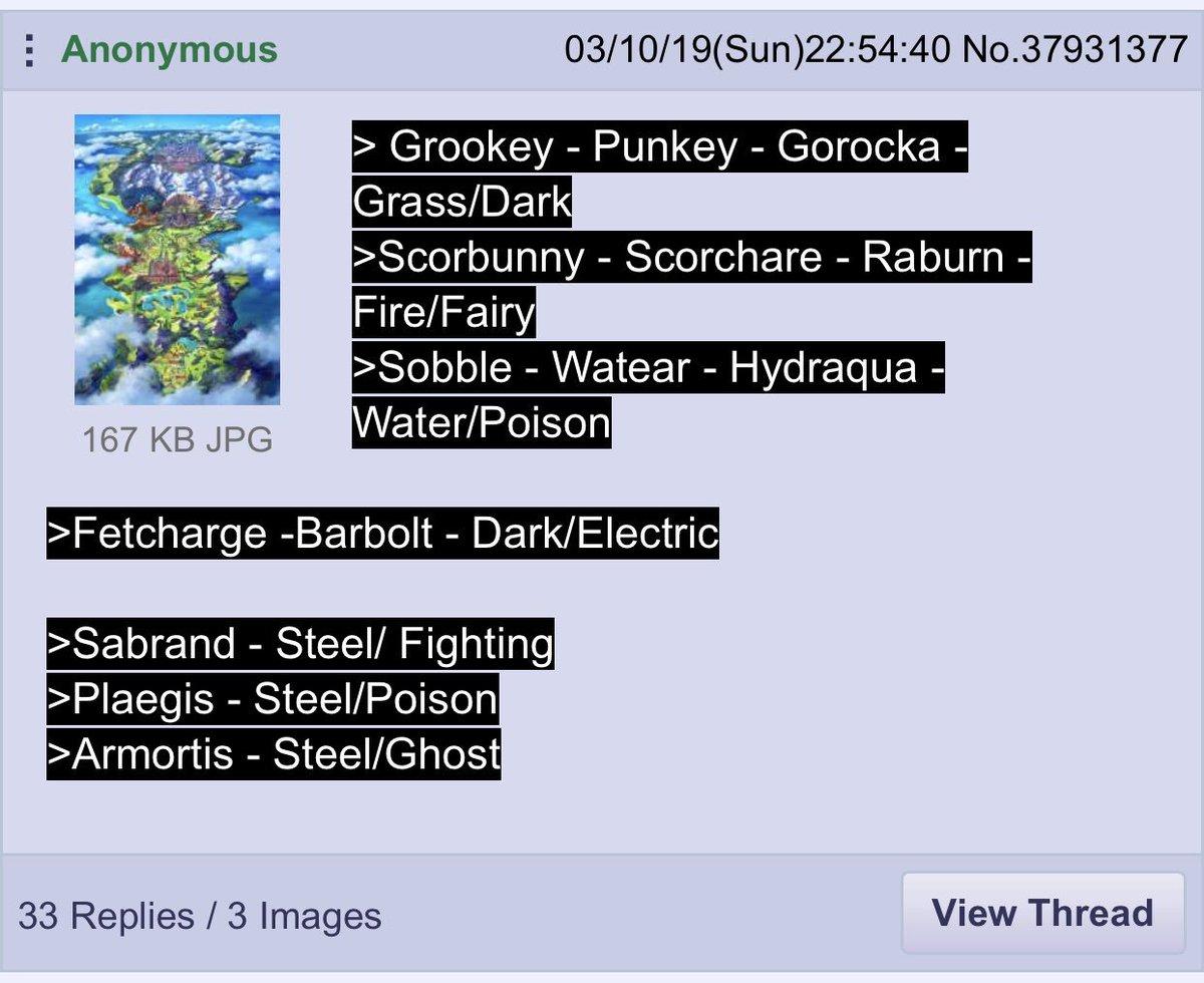 Pokemon Sword Shield Leaks On Twitter Potential New 4chan Leak For