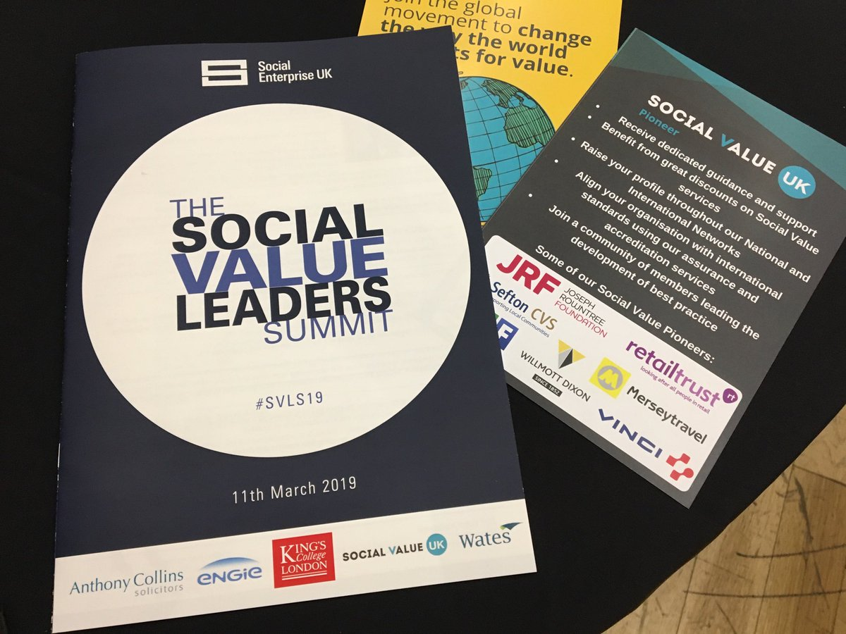 Looking forward to hearing from David Lidington MP and Chris White, amongst others, at today's Social Value Leaders Summit #SVL19 #TeamScape
