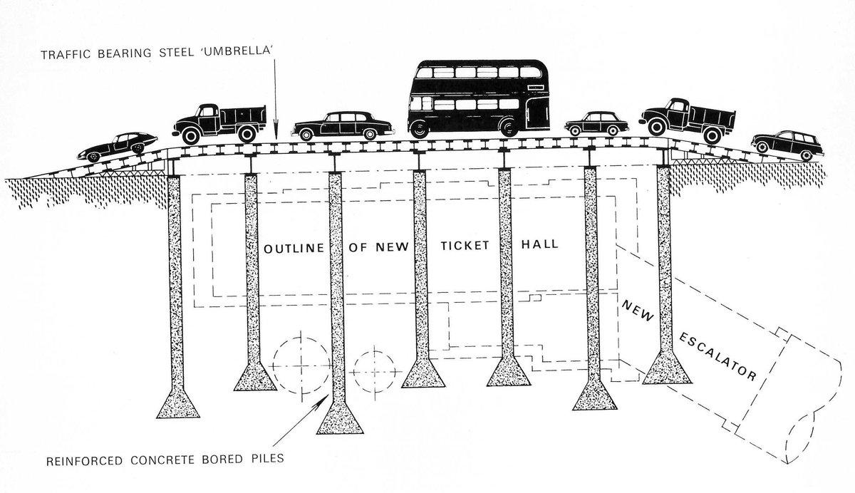 D1X17taXQAIPVBJ - Construction of Oxford Circus station 1962-69
