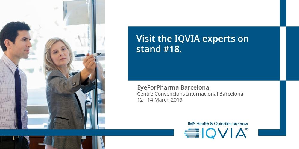 In #Barcelona this week for #efpBarca? Don't miss the #IQVIA experts on stand 18. Pop past for a chat or attend one of the workshops we are running. Find out more : http://bit.ly/2T0emQF