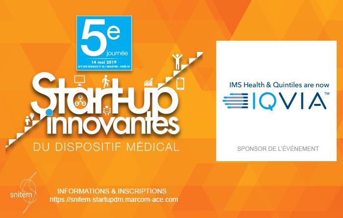 IQVIA est sponsor de la 5ème Journée start-up innovante du dispositif médical organisé par le @Snitem  à la Cité des sciences et de l'industrie (Paris) qui se tiendra le 14 mai 2019.  Inscrivez-vous dès maintenant !  http://bit.ly/2TsvS4Q  #startupDM #DM #innovation