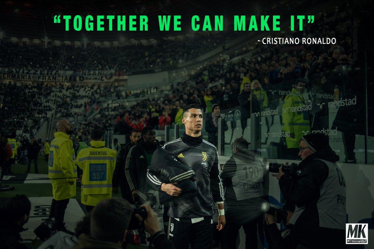 """Cristiano Ronaldo:  """"Together We Can Make It""""  #ForzaJuve #FinoAllaFine"""