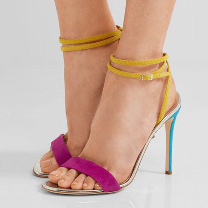 9ee5d4e82380 Shoespie Open Toe Stiletto Heel Line-Style Buckle Color Block Sandals  http   urlend.com ZjMRnae  shoespie reviews