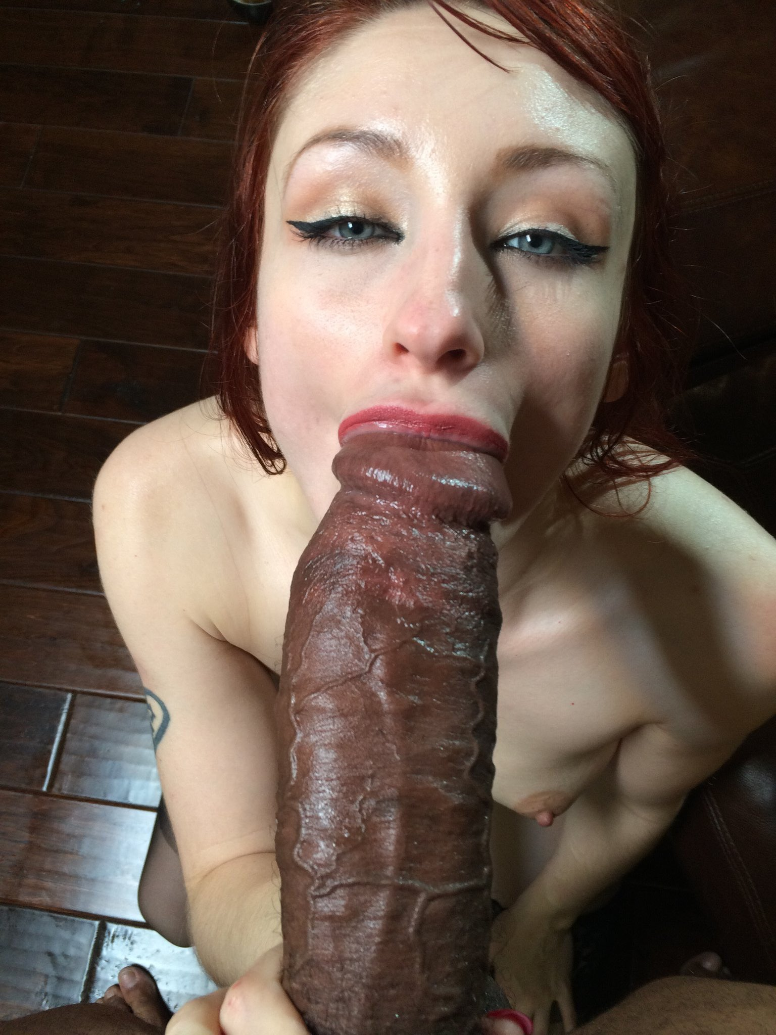 Wide Eyed Asian Sucks First Bbc Monster Dick