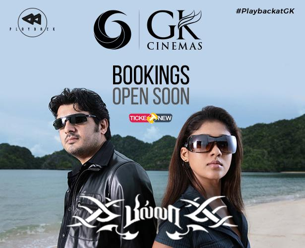 Get ready #Thala fans!!! Bookings for the most stylish film #Billa as part of #PlaybackatGK will open tonight!! Show is on 18-03-2019 10 PM!!