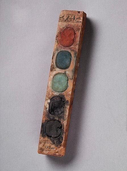 Watercolor paint from Egypt C. 1400 BC (On display at the Cleveland Museum of Art) #artsed