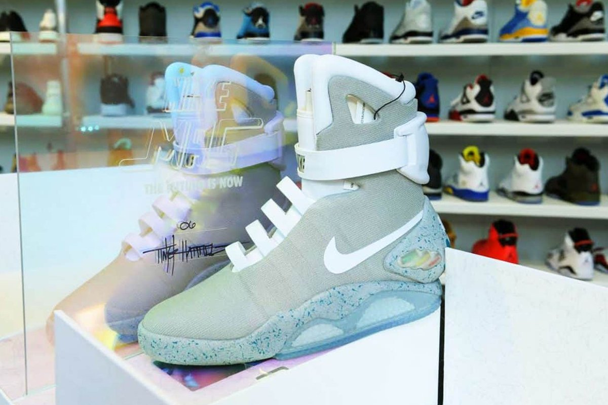 los angeles 6fd88 1f408 you can now buy marty mcflys original nike air mag sneakers for 71000