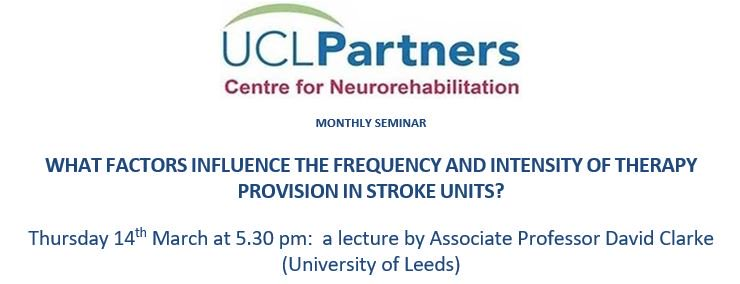 This Thursday - WHAT FACTORS INFLUENCE THE FREQUENCY AND INTENSITY OF THERAPY PROVISION IN STROKE UNITS? from @DavidJClarke6  - you might be surprised! Free registration through Eventbrite https://www.eventbrite.com/e/what-factors-influence-the-frequency-and-intensity-of-therapy-provision-in-stroke-units-tickets-54589498660 … … all welcome! @UCLIoN