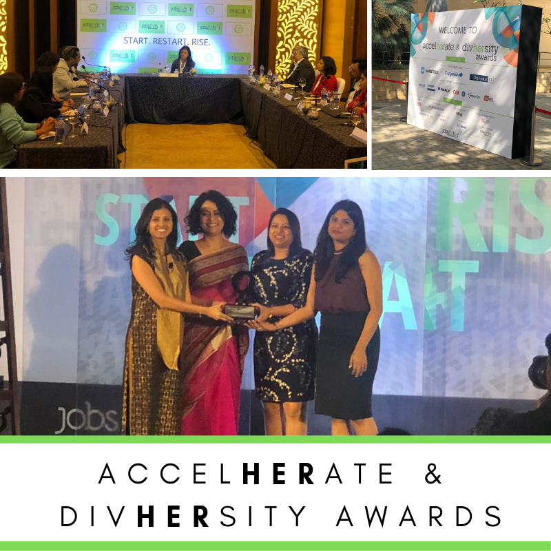 This Women's Day @jobsforher expanded it's commitment to enable women in India to Start.Restart and Rise in their careers with their AccelHERate & DivHERsity Awards. #GPJIndia #GPJProud #GPJLife #JobsForHer