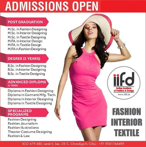 Iifd On Twitter Iifd Is The Best Fashion Design Institute In Chandigarh Offers Degree And Diploma Courses In Fashion Designing Textile Designing And Interior Designing Fashiondesigningcourses Fashioncourses Interiordesigningcourses