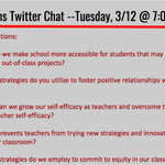 Image for the Tweet beginning: The next #d123learns Twitter Chat
