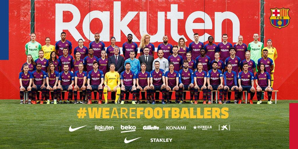 �� Official photo 2018/2019 ���� @FCBarcelona & @FCBfemeni ���� ⚽ #WeAreFootballers https://t.co/g8aniDUYye